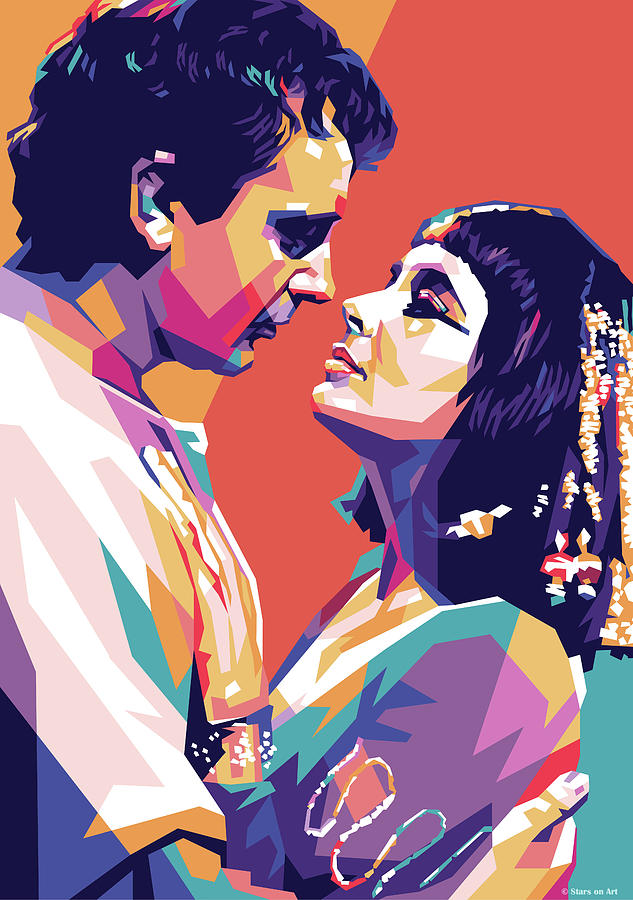 Richard Burton And Elizabeth Taylor 1963 Mixed Media