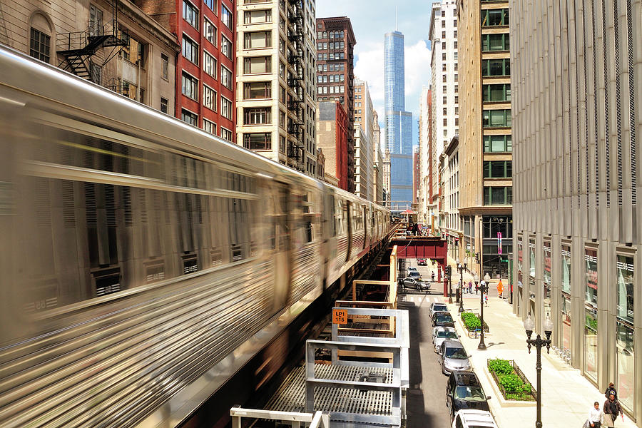 Chicago The Loop On Wabash Photograph