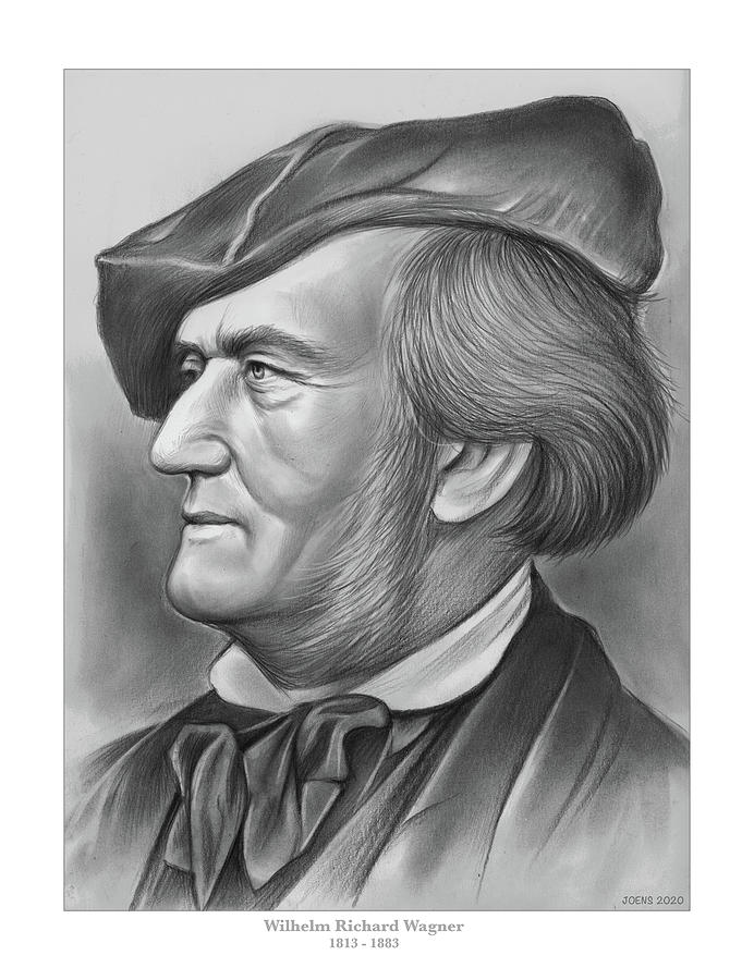 Richard Wagner - Pencil Drawing