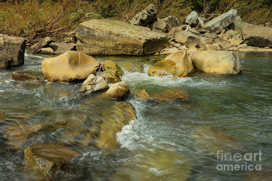 Richland Creeks clear waters by Garry McMichael