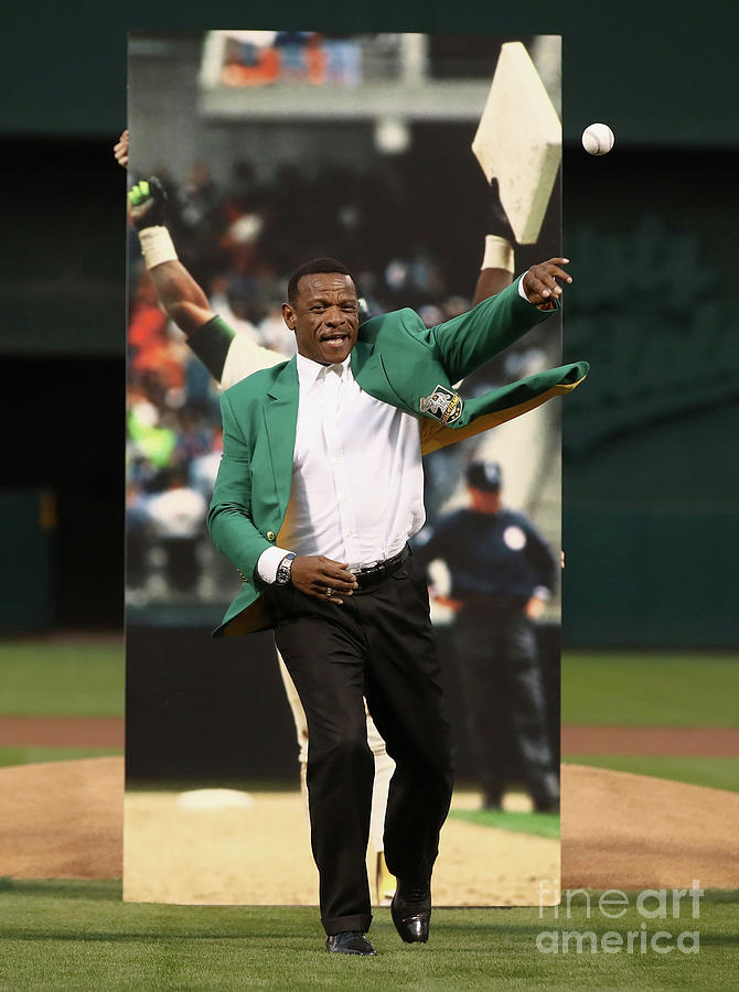 Rickey Henderson Photograph by Ezra Shaw