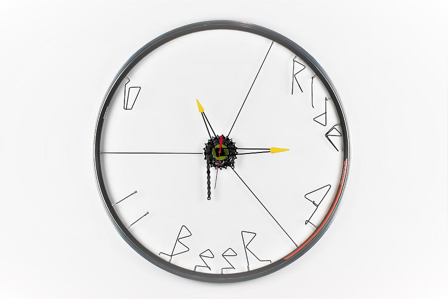 Clock Sculpture - Ride 4 Beer  by Michael Ediza