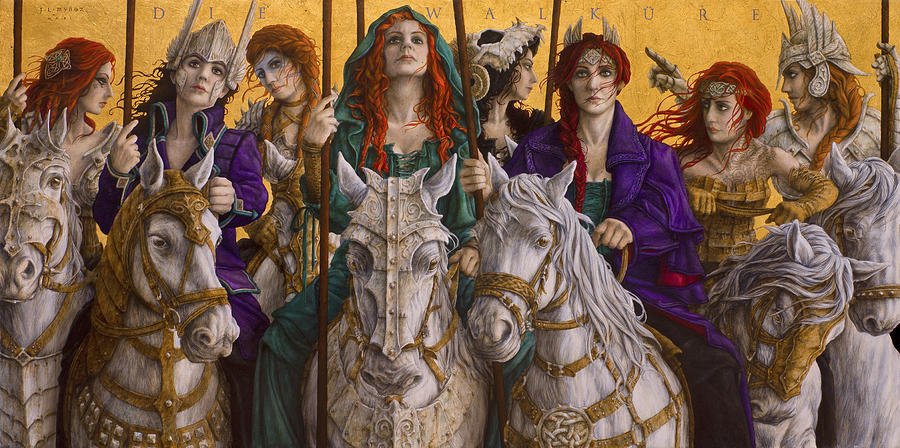 Die Walkure Painting - Ride of the Valkyries by Jose Luis Munoz Luque