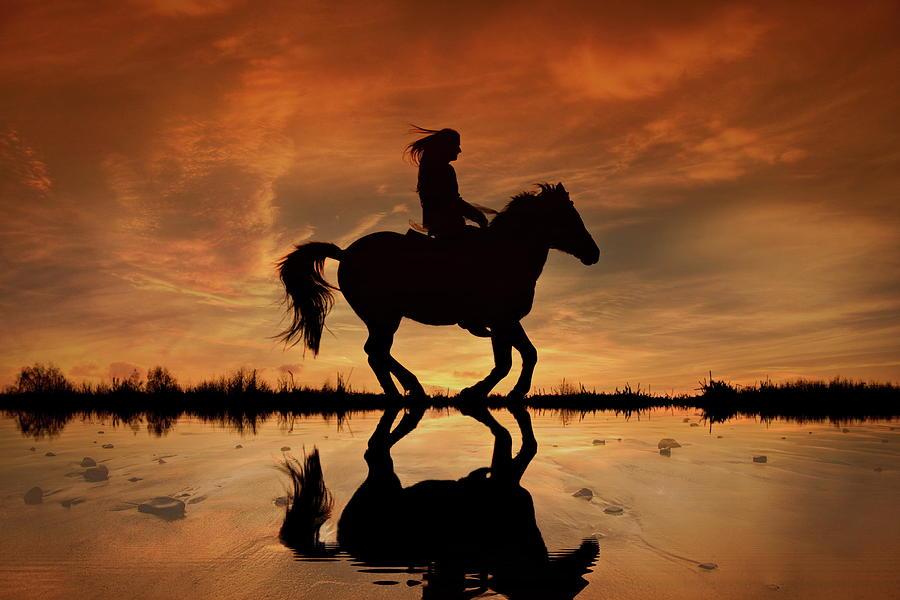 Horseback Riding Photograph - Ride the Open Country by Andrea Kollo