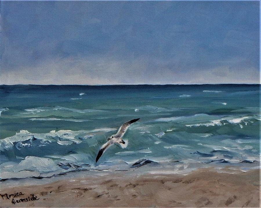Landscape Painting - Riding The Wave by Monica Ironside