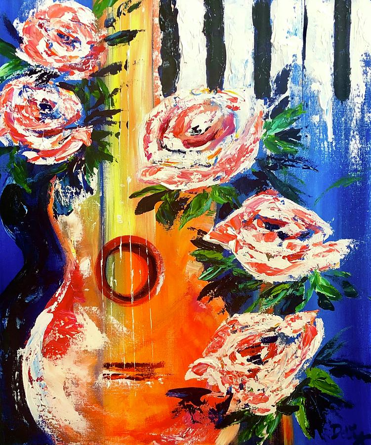Riffs And Roses Painting