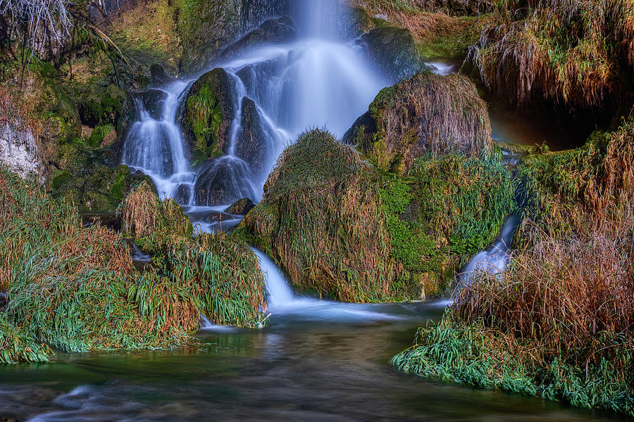 Rifle Falls closeup by Paul Freidlund