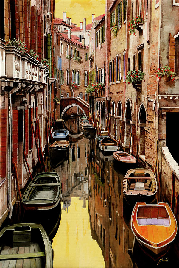 Riflessi Gialli Sul Canale Painting