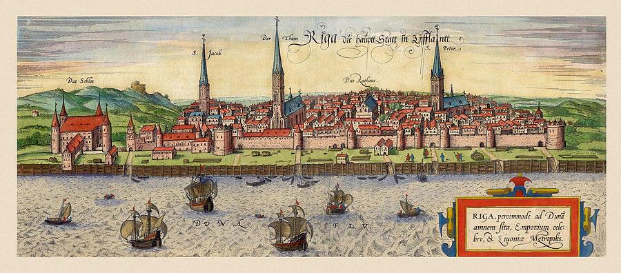 Riga Latvia 1581 Photograph