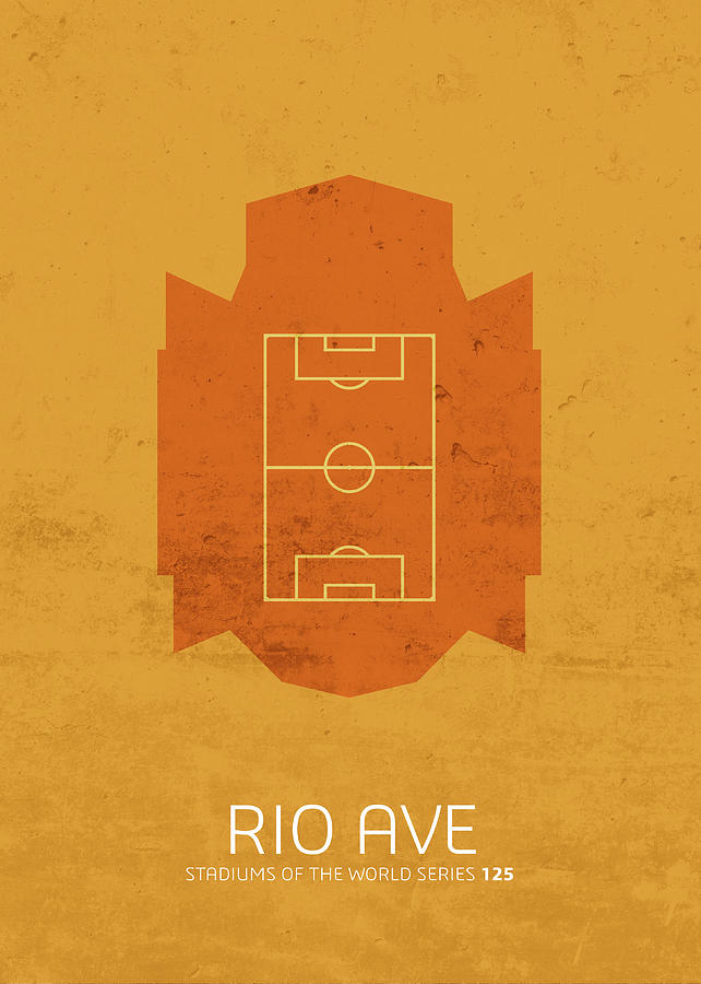 Rio Mixed Media - Rio Ave Stadium Football Soccer Minimalist Series by Design Turnpike