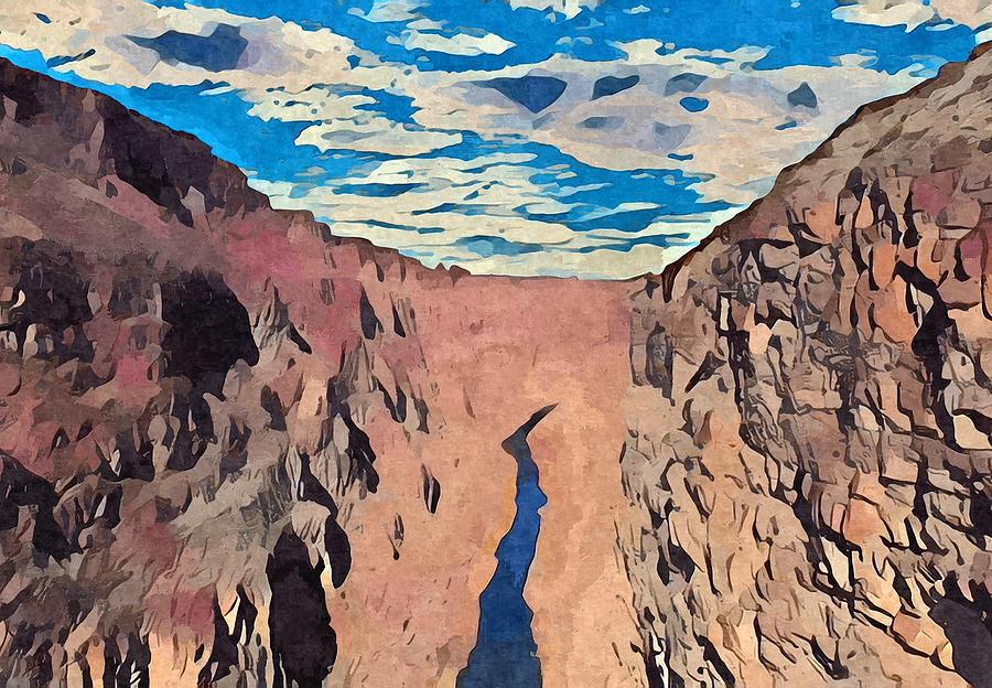 River Digital Art - Rio Grande Gorge by Aerial Santa Fe