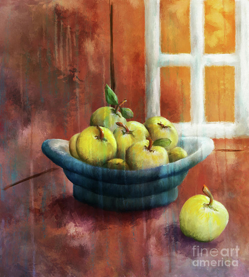 Apples Digital Art - Ripe And Ready by Lois Bryan