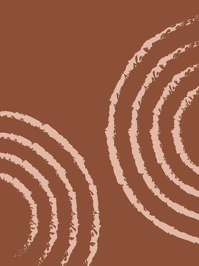 Ripples 01 - Modern, Minimal, Contemporary Abstract Art - Brown Mixed Media