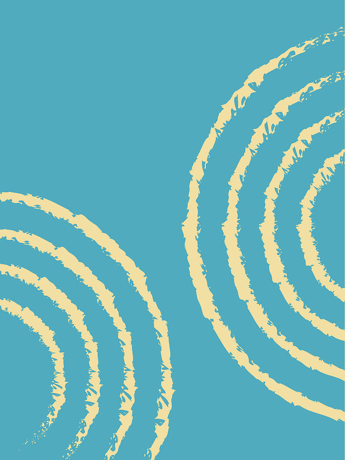 Ripples 02 - Modern, Minimal, Contemporary Abstract Art - Blue Mixed Media