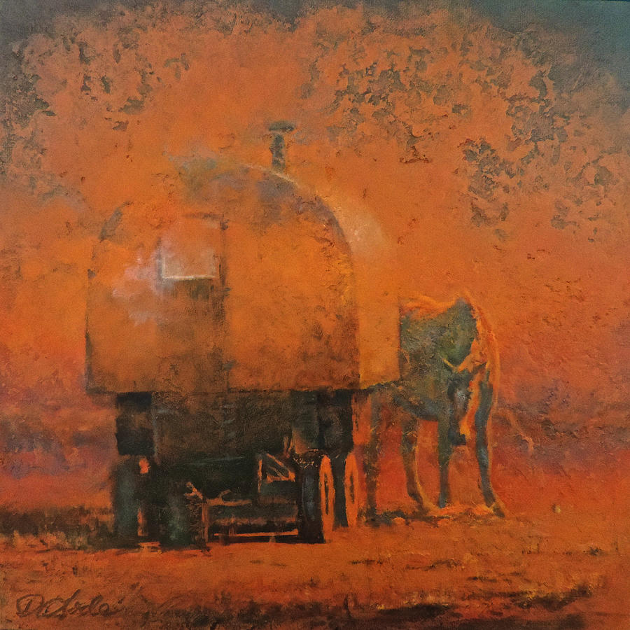 Sheep Wagon Painting - Rise and Shine by Mia DeLode