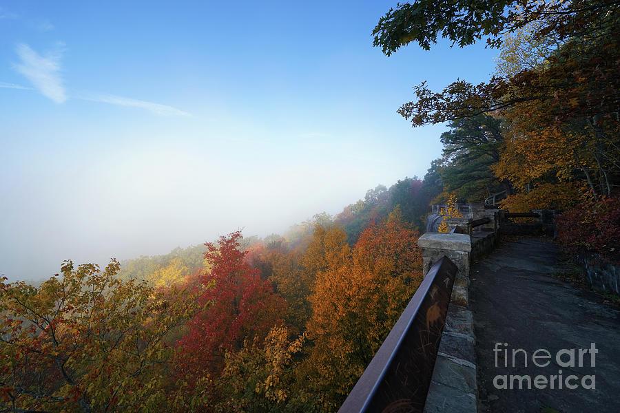 Rising Fog At Rimrock Overlook Photograph