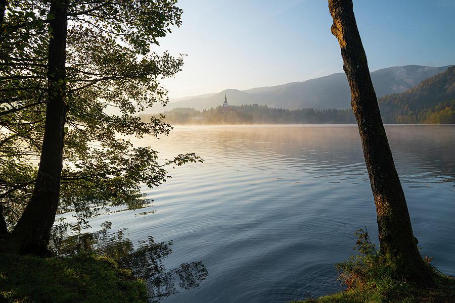 Rising - lake Bled by Yuri San