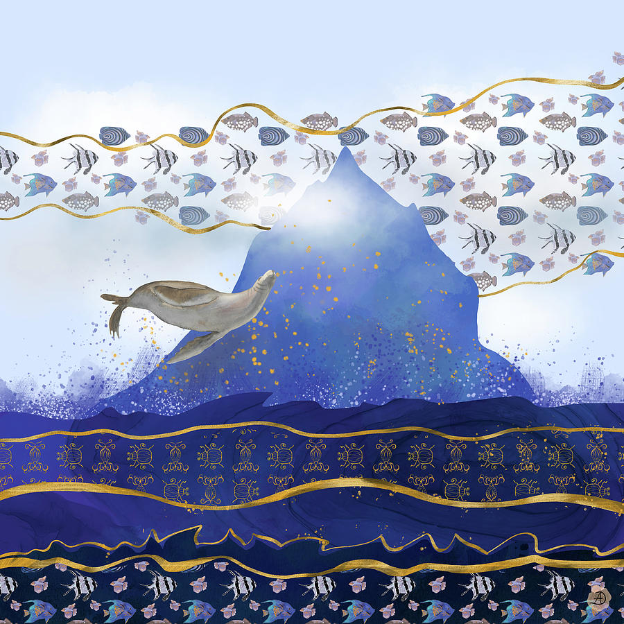 Climate Change Digital Art - Rising Oceans - Surreal World by Andreea Dumez