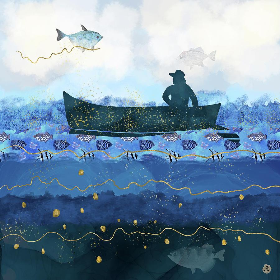 Global Warming Digital Art - Rising Water Levels by Andreea Dumez