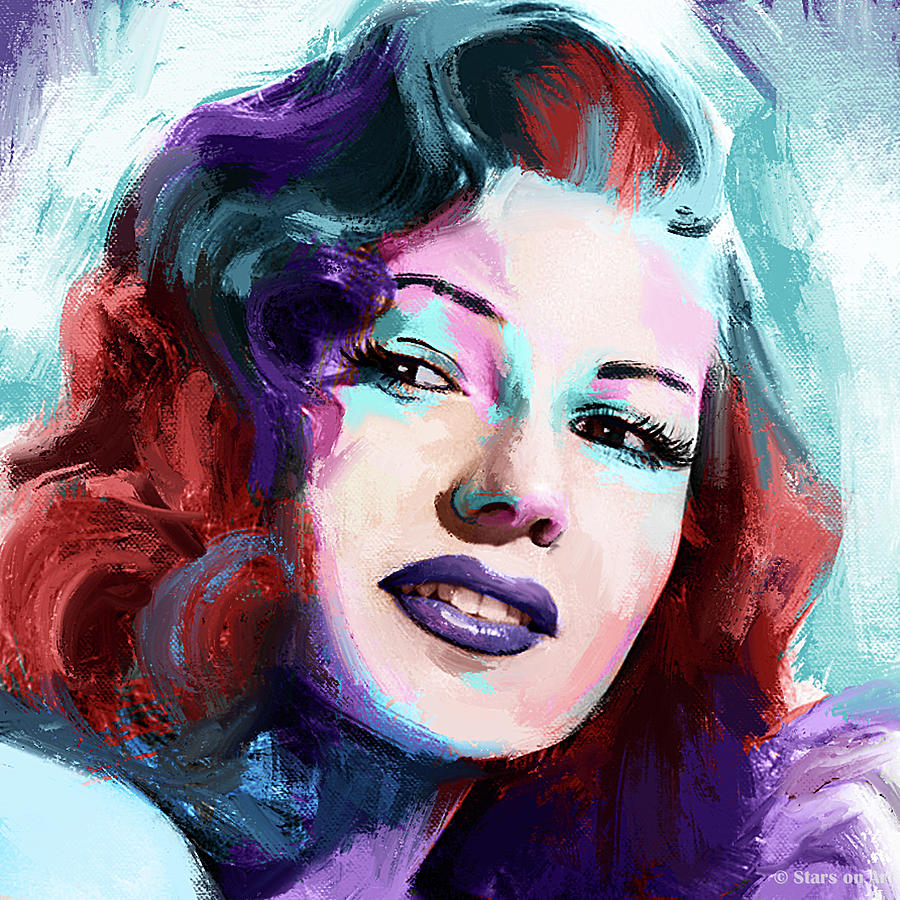 Rita Hayworth Portrait Painting