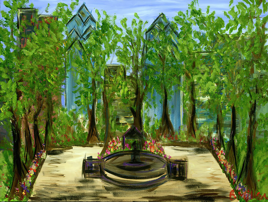 Philly Painting - Rittenhouse Square in Spring by Britt Miller