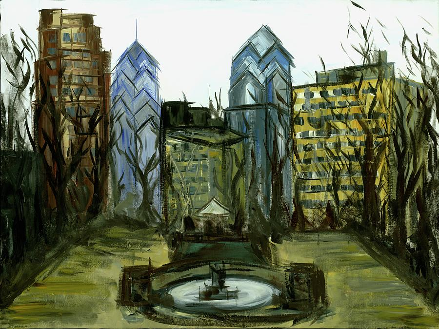 Rittenhouse Painting - Rittenhouse Square in Winter by Britt Miller