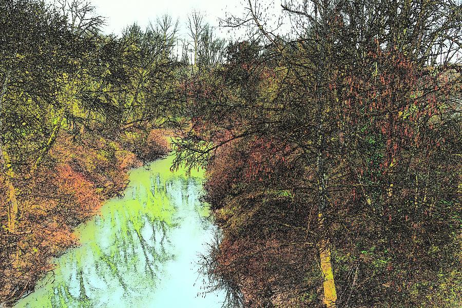 River Banks Trees Reflections Photograph