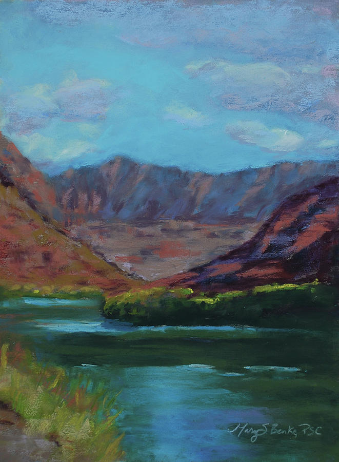 Colorado River Painting - River Bend by Mary Benke