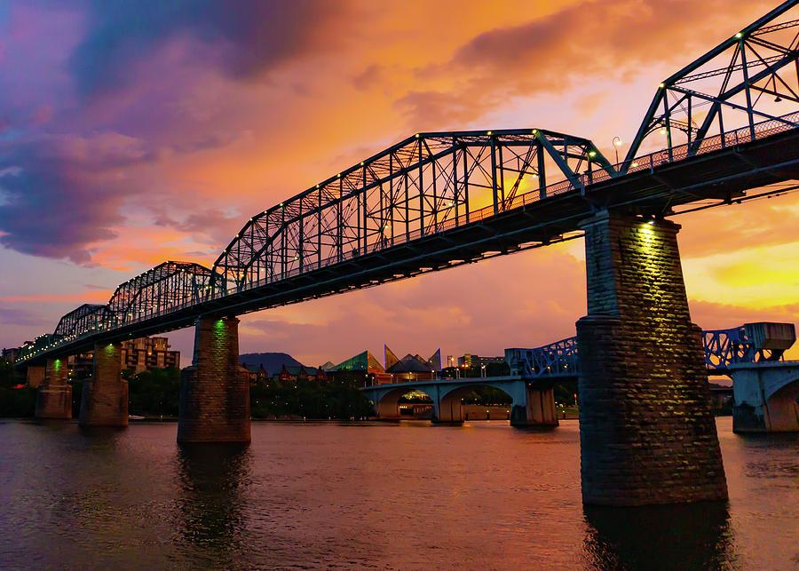 Bridge Photograph - River City by GraphiGlyphics Photography