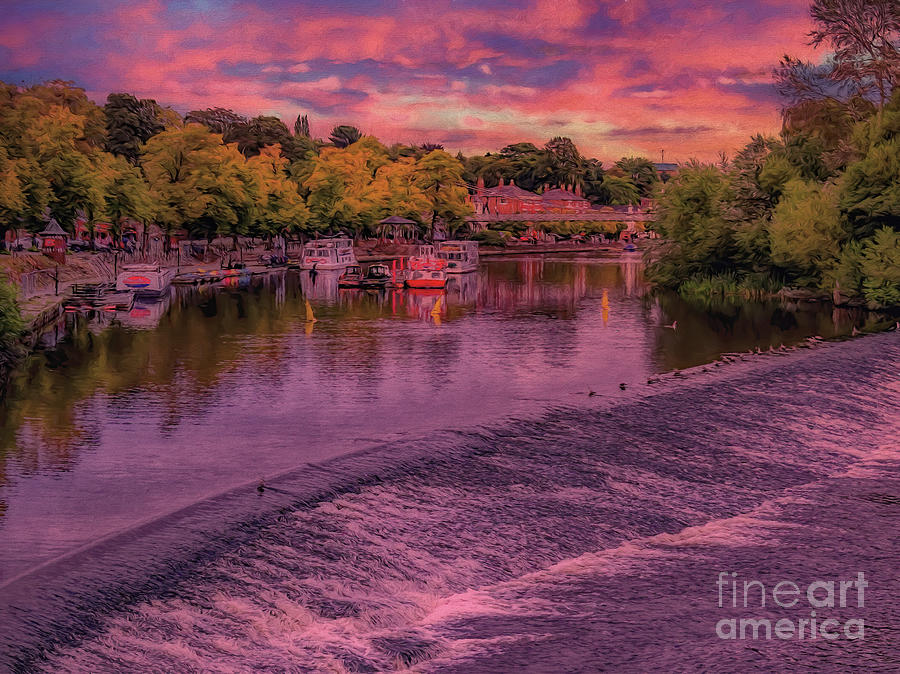 Chester Photograph - River Dee At Chester by Leigh Kemp
