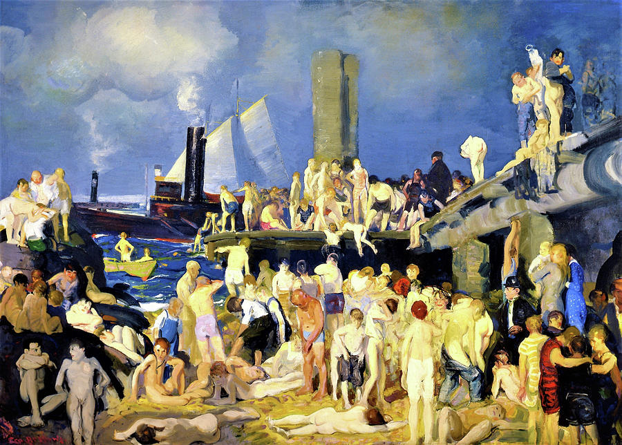 River Front Painting - River Front No.1 - Digital Remastered Edition by George Wesley Bellows