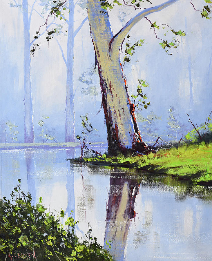 River Gum Tree Painting