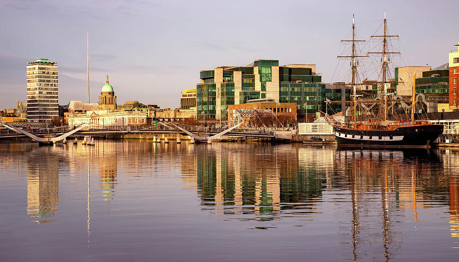 Dublin Photograph - River Liffey Reflections - Dublin by Barry O Carroll