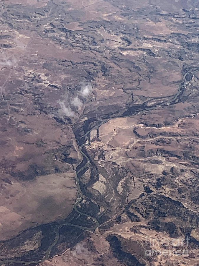 Aerial Photograph - River Path by Mary Mikawoz