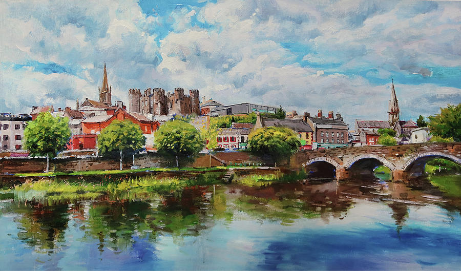 River Slaney, Enniscorthy Painting