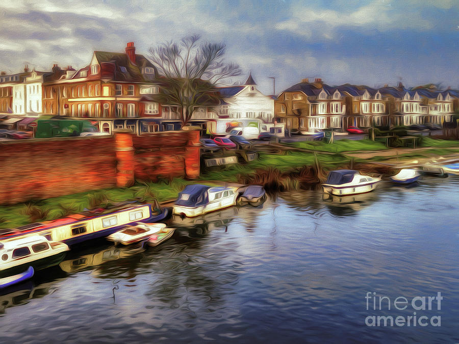 River Thames Photograph - River Thames East Molesey by Leigh Kemp