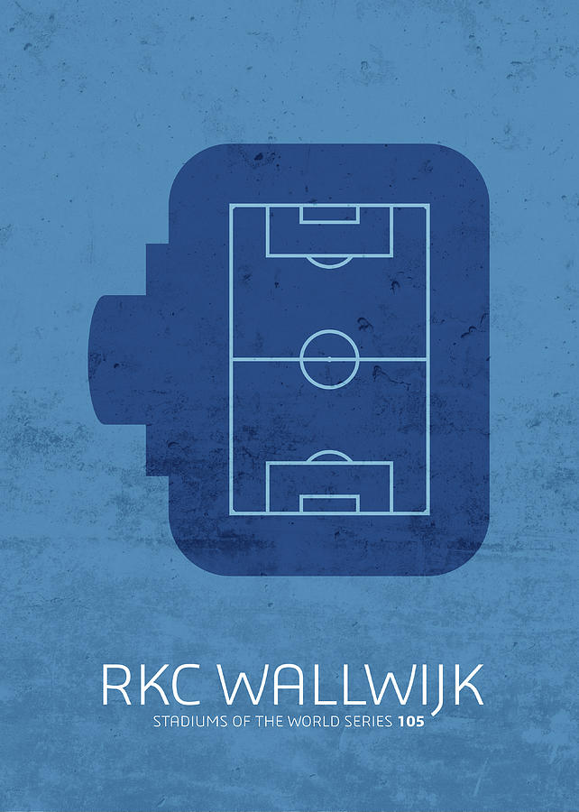 Rkc Mixed Media - Rkc Waalwijk Stadium Football Soccer Minimalist Series by Design Turnpike