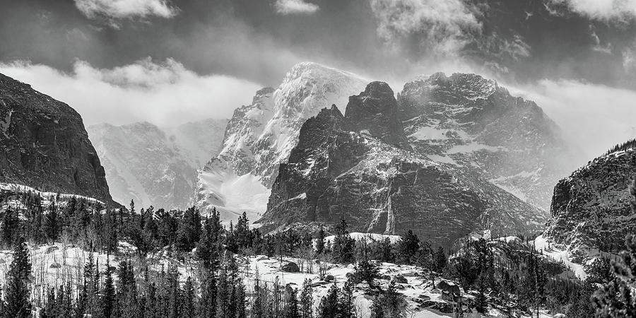 Rmnp Gateway To The Rockies  Bw Photograph