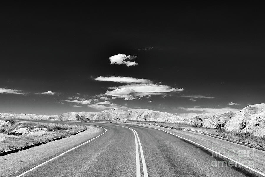 Road Through Badlands National Park Photograph