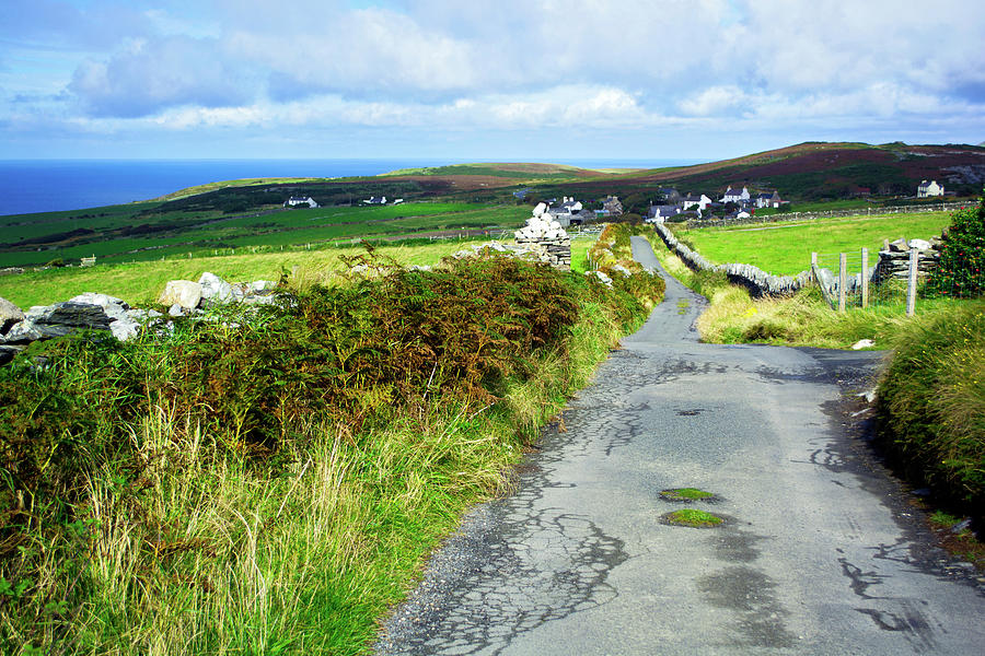 Road Photograph - Road to Cregneish by Steve Watson