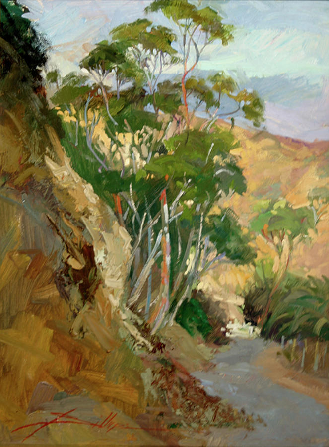 Road to Descanso Catalina Painting by Betty Jean Billups