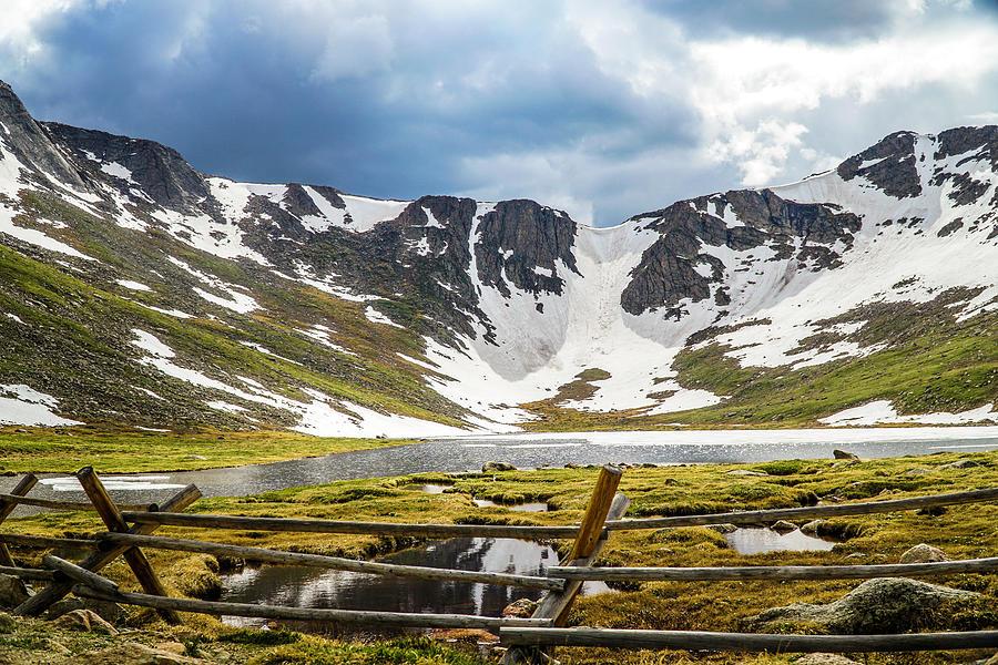 Landscape Photograph - Road to Mt. Evans by Kamie Stephen