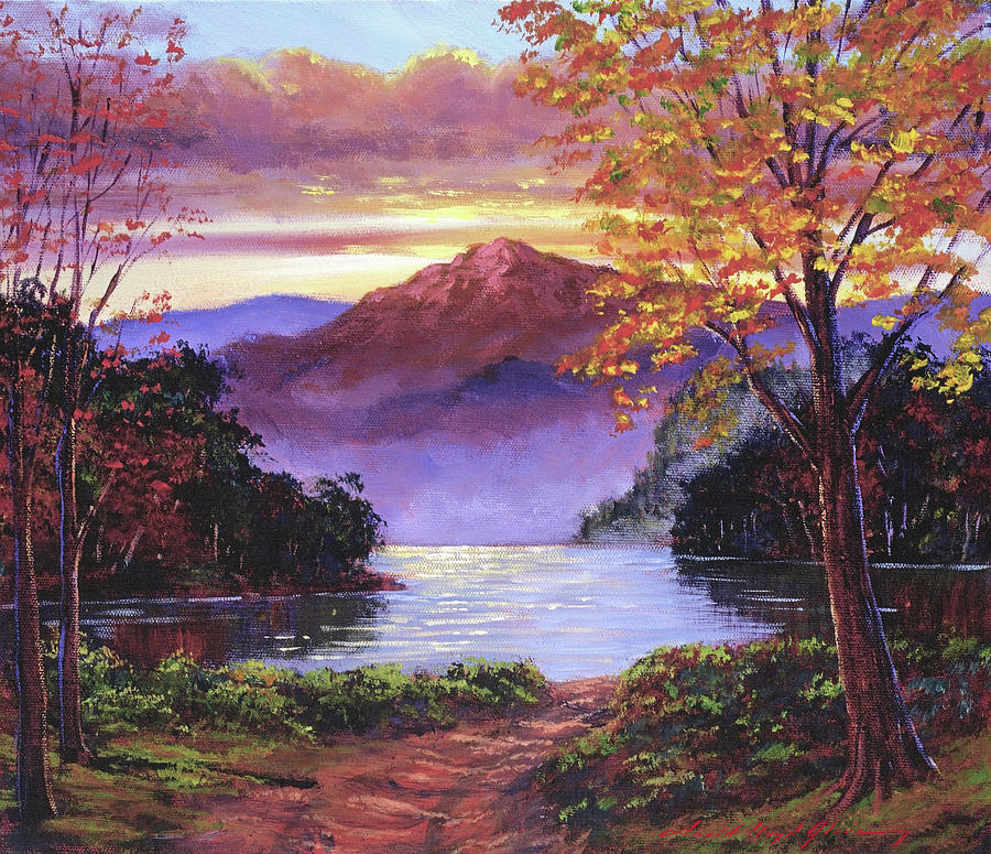 Road To The Lakeshore Painting