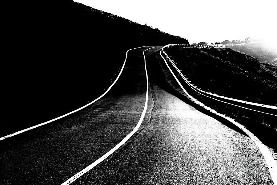 Black Photograph - Road To The Light by Vicente Sargues