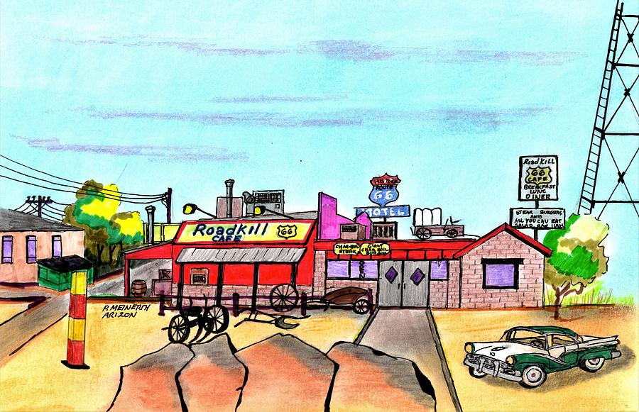 Roadkill Cafe And Saloon Drawing