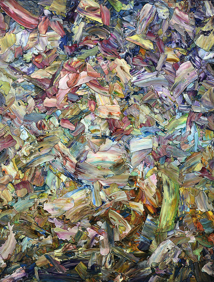 Abstract Painting - Roadside Fragmentation by James W Johnson