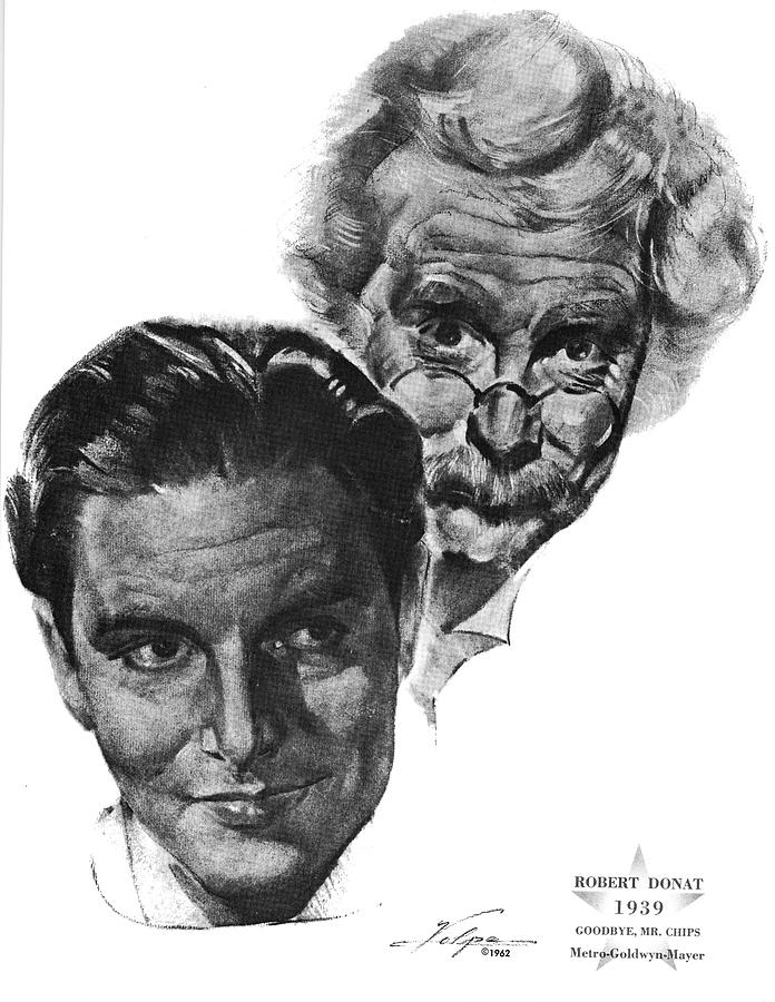 Robert Donat By Volpe Drawing