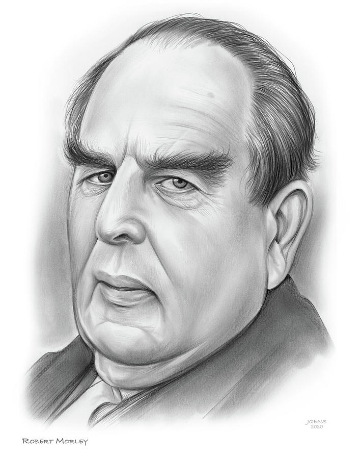 Character Drawing - Robert Morley by Greg Joens