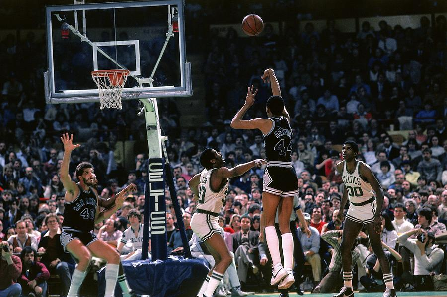 Robert Parish and George Gervin Photograph by Dick Raphael