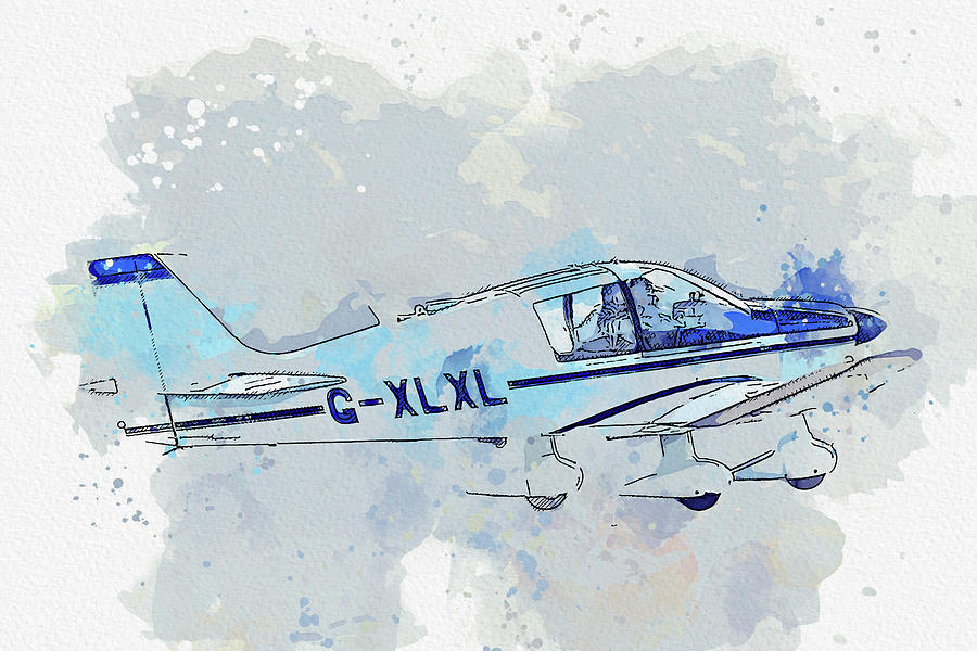 Robin Dr Chevalier G-xlxl War Planes In Watercolor Ca By Ahmet Asar Painting